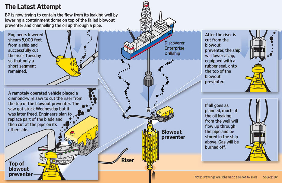 Capping the blowout preventer
