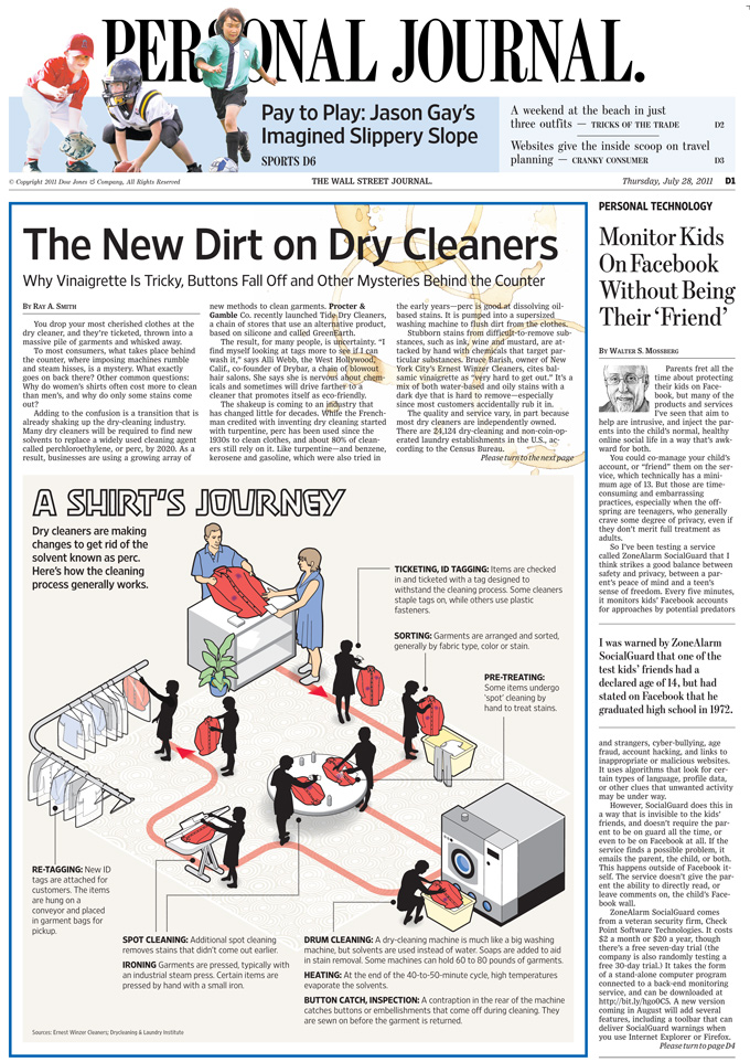 The dry cleaning process_full page